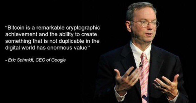 Bitcoin Quote Custom Bitcoin Quote By Eric Schmidt CEO Of Google Info On Bitcoin