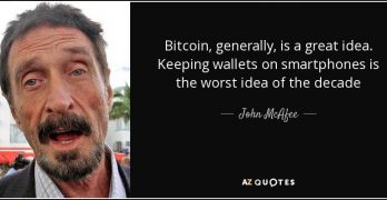John McAfee on Bitcoin and our privacy
