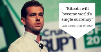 "Twitter CEO Jack Dorsey  buys $10K Bitcoin a week ""Bitcoin Boom coming"""